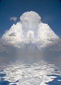 Prayerful Figure in cloud