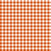 Checkered Tablecloths Pattern - Endless - Orange