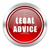 legal advice icon, law sign