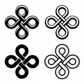 vector endless celtic black white knots