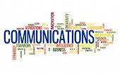 Communication business word cloud