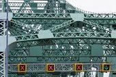 Steel Bridge Construction Closeup