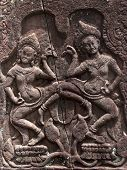 Apsaras Dancing On Lotuses