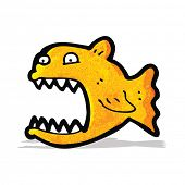 image of piranha  - cartoon piranha - JPG