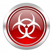 biohazard icon, virus sign
