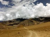 Monsoon Clouds Over Desert Himalayan Landscape