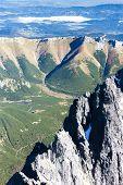 view from Lomnicky Peak, Vysoke Tatry (High Tatras), Slovakia