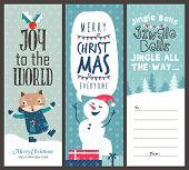 set of Christmas banner design