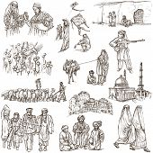 Afghanistan: Travel Around The World. An Hand Drawn Illustration.