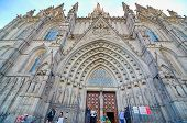 The Gothic Barcelona Cathedral (catedral De Barcelona)
