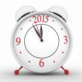 pic of countdown timer  - 2015 year on alarm clock - JPG