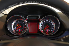 image of mph  - illuminated instrument panel with the passenger car - JPG
