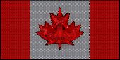 Canada Flag Assembled Of Diamonds