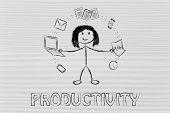 foto of juggling  - productivity and multitasking - JPG
