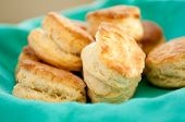 picture of buttermilk  - some delicious buttermilk biscuits homemade from scratch - JPG