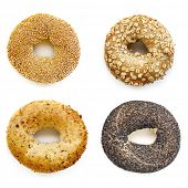 pic of bagel  - Bagels collection isolated on white - JPG