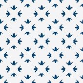 picture of indigo  - Hand drawn seamless blue and white indigo pattern - JPG