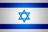 stock photo of israeli flag  - Israel flag or Israeli banner on abstract texture - JPG