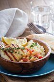 image of tabouleh  - Chickpea salad - JPG