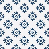 pic of indigo  - Indigo and white seamless delft pattern - JPG