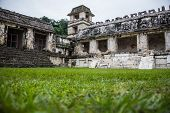 stock photo of mayan  - Panoramic View of Historic Mayan Site - JPG
