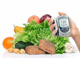 stock photo of vegetable food fruit  - Diabetes diabetic concept - JPG