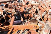 picture of scrap-iron  - old rusty scrap metal - JPG