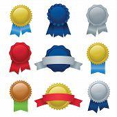 Seals, Ribbons & Badges