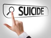 foto of suicide  - Suicide written in search bar on virtual screen - JPG