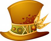 stock photo of top-hat  - Illustration of a Top Hat with a Steampunk Design - JPG