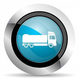 stock photo of tank truck  - truck icon cargo sign  - JPG