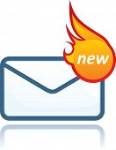 Mail icons - hot
