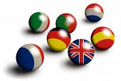 Europe Flag Balls