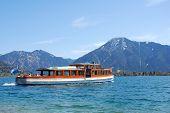 Boat On Bavarian Mountain Lake