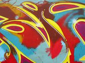 Graffiti pintura abstrata
