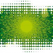 Abstract dot vector green background