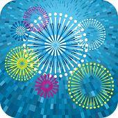 Vector shine Fireworks background