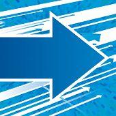 Vector blue arrows background