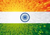stock photo of gandhi  - flag of india - JPG
