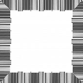 creative border made from scanning barcodes - vector