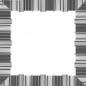 creative border made from scanning barcodes