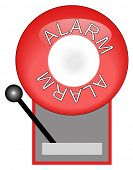 red alarm system used for fire