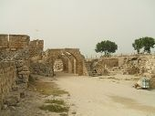Archways Entrace To A Historical Place In Caesarea  poster