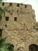 Ruins Of Ancient Watch Tower For Romans In Caesarea poster
