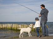 foto of family vacations  - Family fishing - JPG