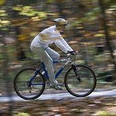 Autumn bike riding