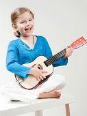 Happy little musician