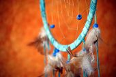 stock photo of dream-catcher  - native american dream catcher detail - JPG