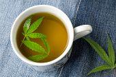 Marijuana Herbal Tea And Cannabis Leaves poster