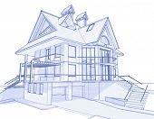 casa modelo 3D: empate técnico de vetor